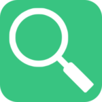 Magnifying Glass Icon in Green Box