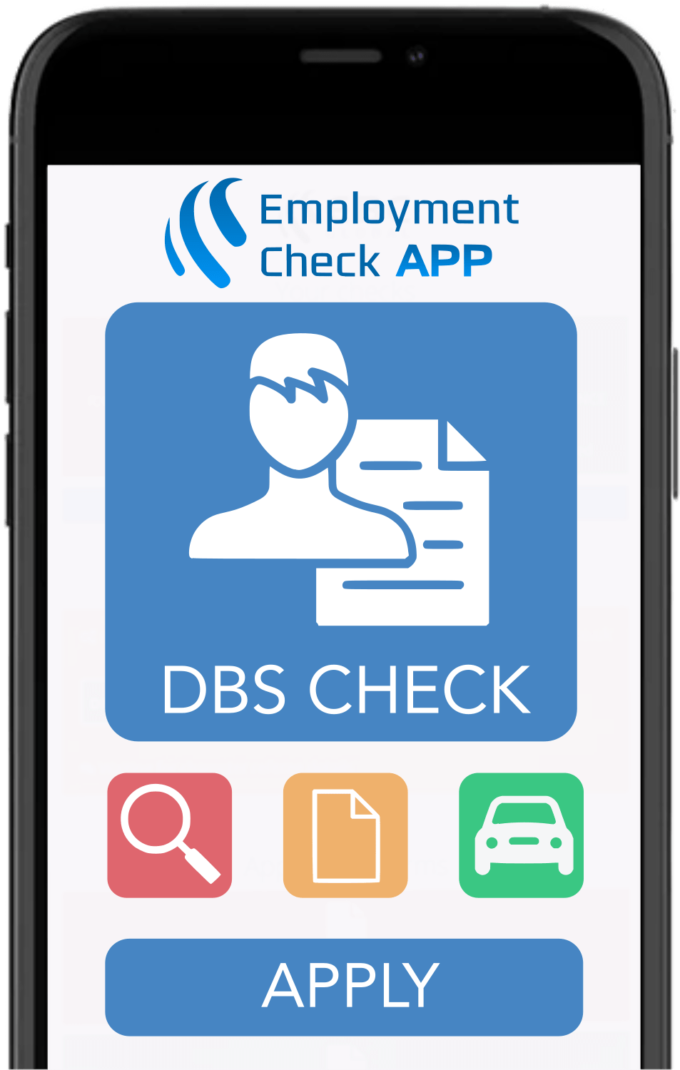 Employment Check App - iPhone